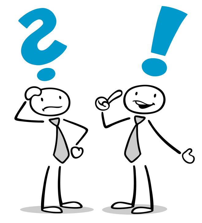 Frage und Antwort unter Geschäftsleuten